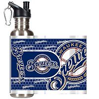 Milwaukee Brewers Stainless Steel Water Bottle With Wrap