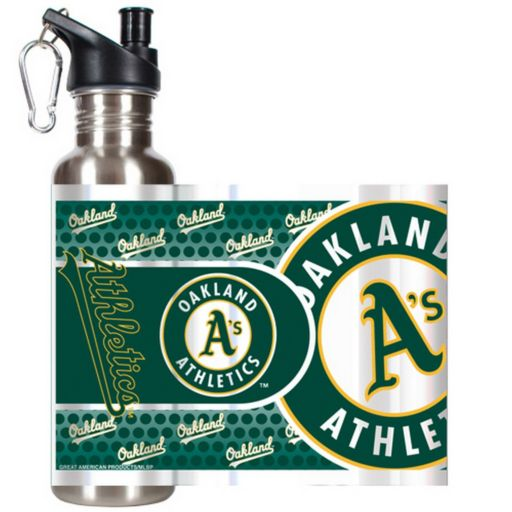 Oakland Athletics Stainless Steel Water Bottle With Wrap