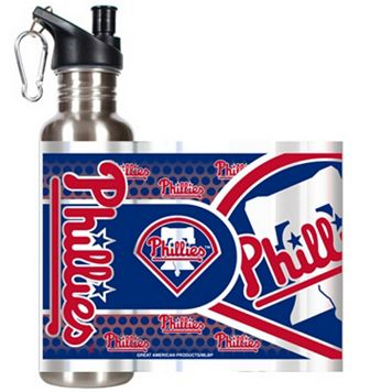 Philadelphia Phillies Stainless Steel Water Bottle With Wrap