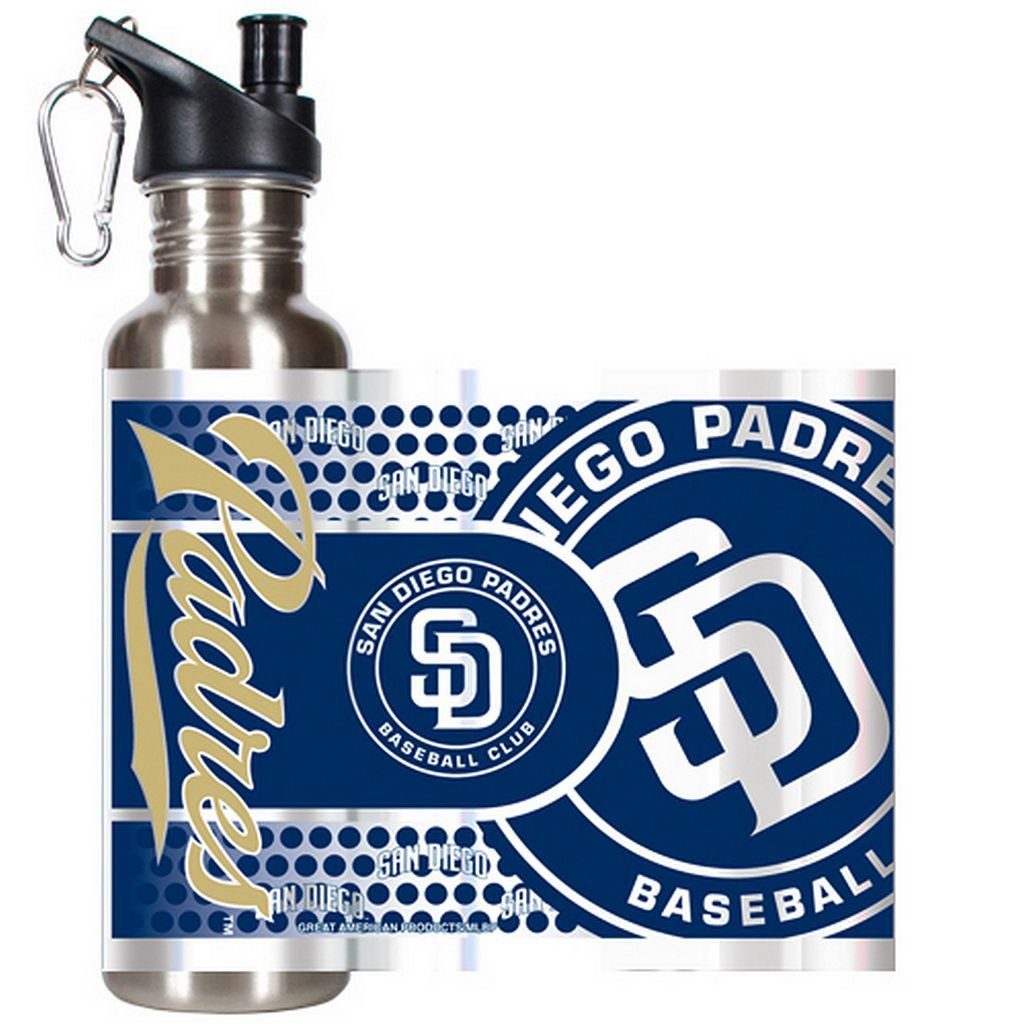 San Diego Padres Stainless Steel Water Bottle With Wrap