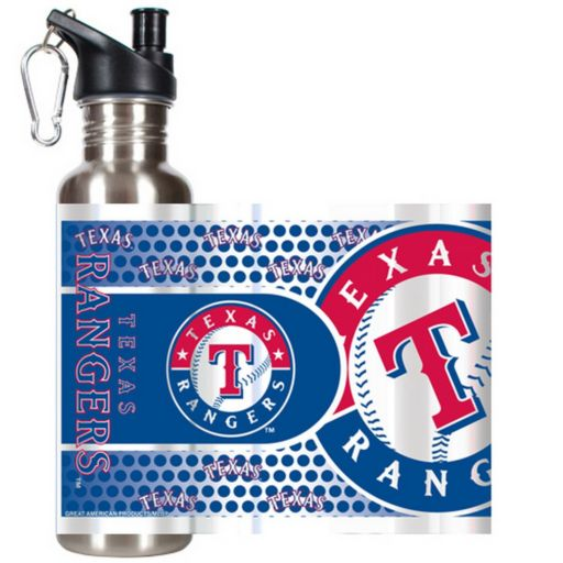 Texas Rangers Stainless Steel Water Bottle With Wrap