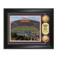 Highland Mint Chicago Bears Gold Flashed Coin Photo Mint