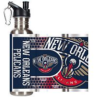 New Orleans Hornets Stainless Steel Water Bottle With Wrap