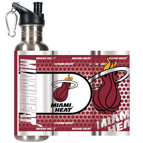 Miami Heat Stainless Steel Water Bottle With Wrap