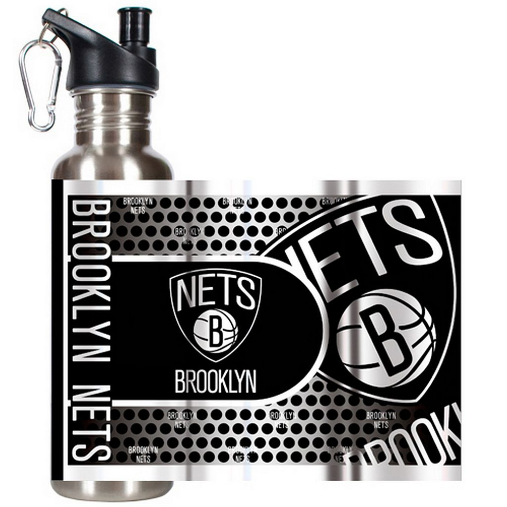 Brooklyn Nets Stainless Steel Water Bottle With Wrap