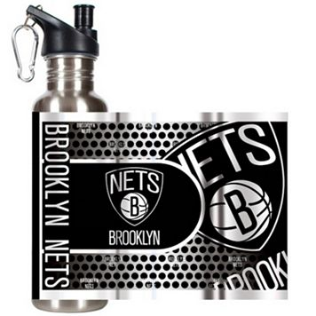 Brooklyn Nets Stainless Steel Water Bottle With Wrap