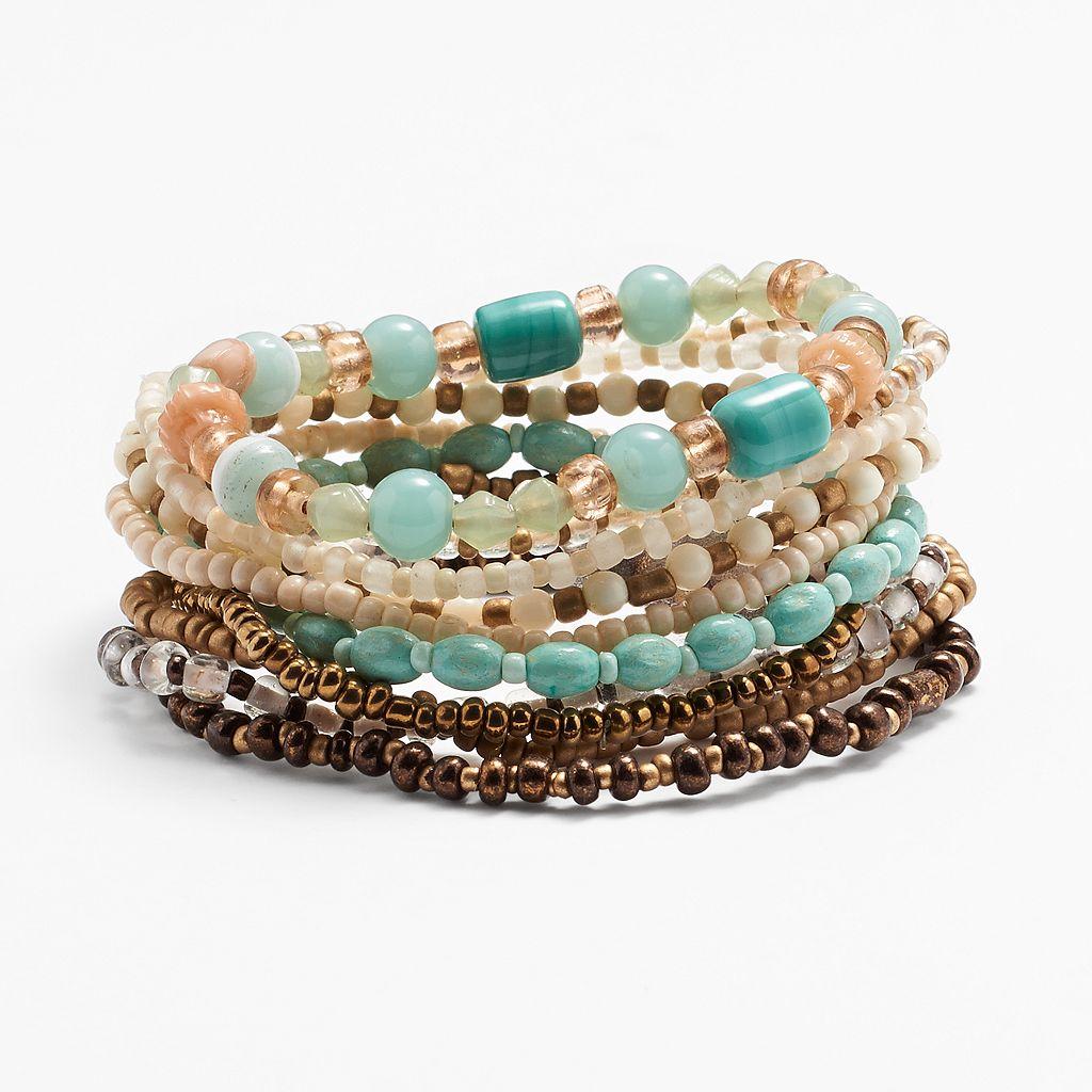 Mudd® Seed Bead Stretch Bracelet Set