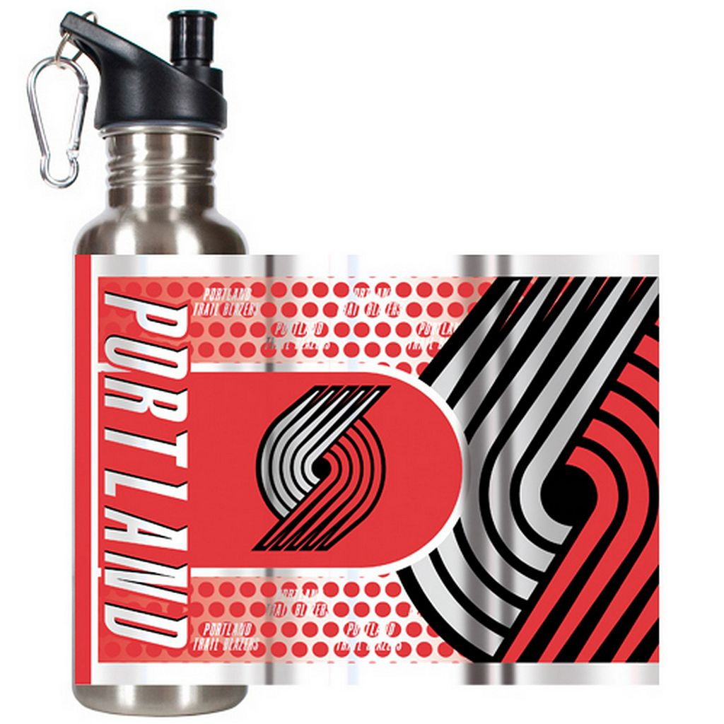 Portland Trail Blazers Stainless Steel Water Bottle With Wrap
