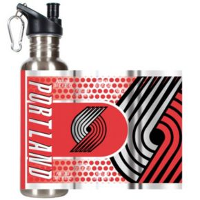 Portland Trail Blazers Stainless Steel Water Bottle With Wrap