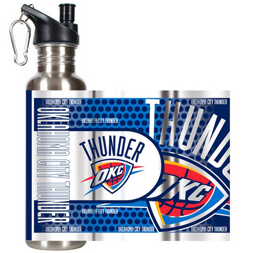 Oklahoma City Thunder Stainless Steel Water Bottle With Wrap