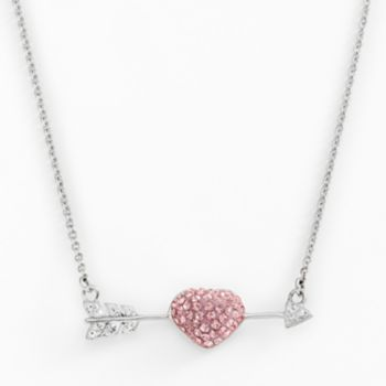 AMORE by SIMONE I. SMITH Platinum Over Silver Crystal Cupid's Arrow Necklace