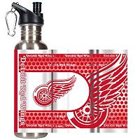 Detroit Red Wings Stainless Steel Water Bottle With Wrap
