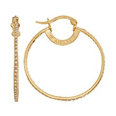 AMORE by SIMONE I. SMITH 18k Gold Over Silver Crystal Inside-Out Hoop Earrings