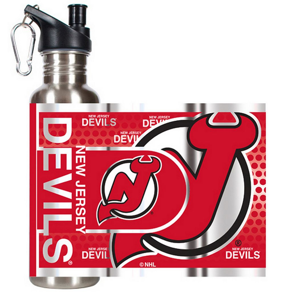 New Jersey Devils Stainless Steel Water Bottle With Wrap