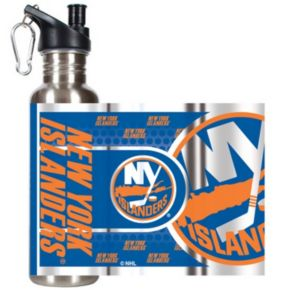 New York Islanders Stainless Steel Water Bottle With Wrap