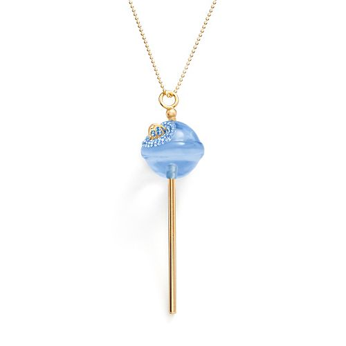 AMORE by SIMONE I. SMITH A Sweet Touch of Hope 18k Gold Over Silver Crystal Lollipop Pendant