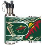 Minnesota Wild Stainless Steel Water Bottle With Wrap