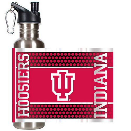 Indiana Hoosiers Stainless Steel Water Bottle With Wrap