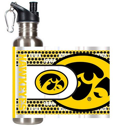 Iowa Hawkeyes Stainless Steel Water Bottle With Wrap