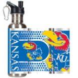 Kansas Jayhawks Stainless Steel Water Bottle With Wrap