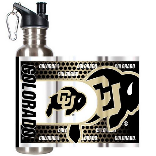 Colorado Buffaloes Stainless Steel Water Bottle With Wrap
