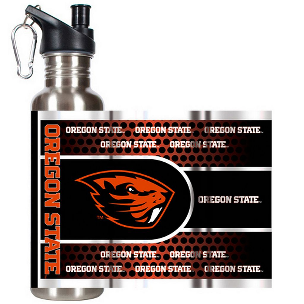 Oregon State Beavers Stainless Steel Water Bottle With Wrap