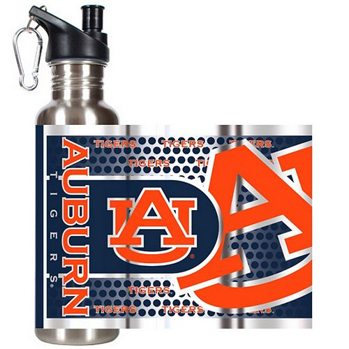 Auburn Tigers Stainless Steel Water Bottle With Wrap