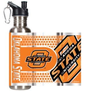 Oklahoma State Cowboys Stainless Steel Water Bottle With Wrap