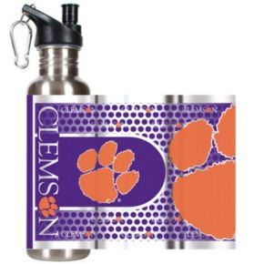 Clemson Tigers Stainless Steel Water Bottle With Wrap