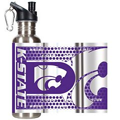 Kansas State Wildcats Stainless Steel Water Bottle With Wrap