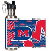 Ole Miss Rebels Stainless Steel Water Bottle With Wrap