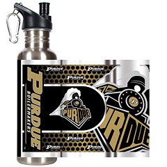 Purdue Boilermakers Stainless Steel Water Bottle With Wrap