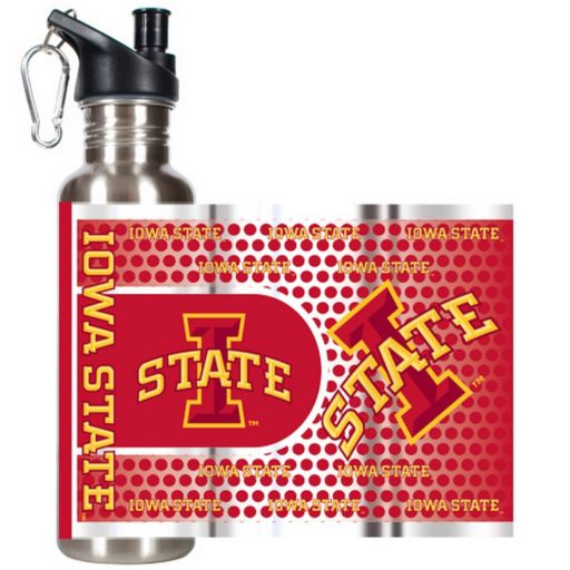 Iowa State Cyclones Stainless Steel Water Bottle With Wrap