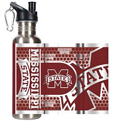 Mississippi State Bulldogs Stainless Steel Water Bottle With Wrap