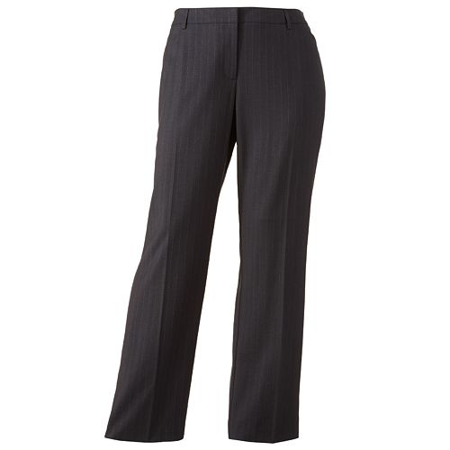 43113976cde Plus Size 212 Collection Pin-Striped Straight-Leg Pants