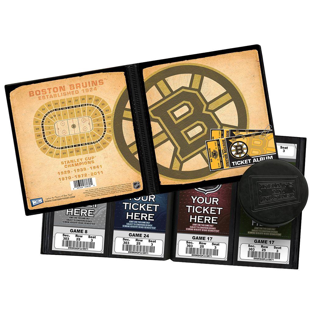 Boston Bruins Ticket Album