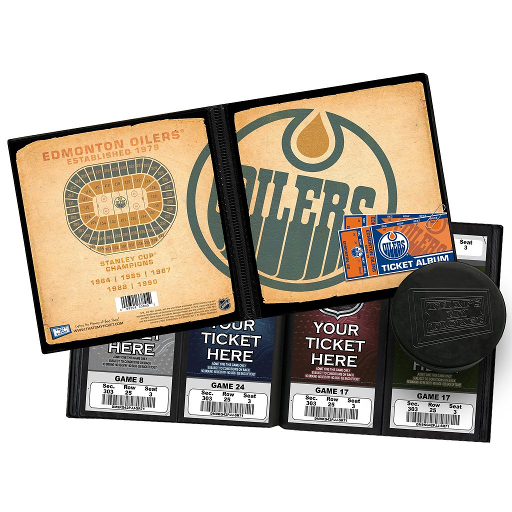 Edmonton Oilers Ticket Album