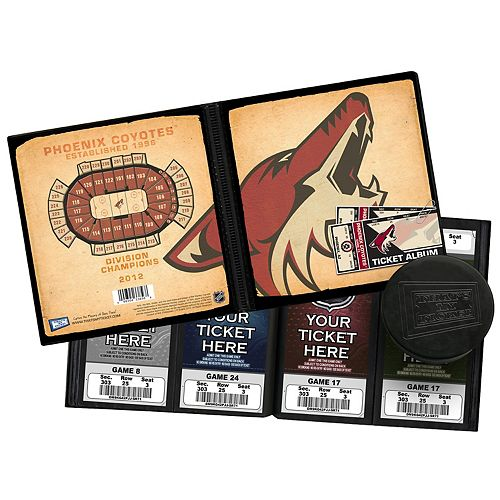 Phoenix Coyotes Ticket Album