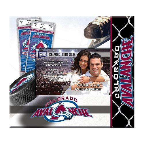 "Colorado Avalanche 8"" x 8"" Ticket and Photo Album Scrapbook"