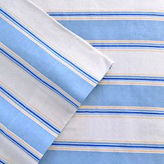 Celeste Home Stripe Flannel Sheet Set - Twin