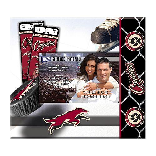 "Phoenix Coyotes 8"" x 8"" Ticket and Photo Album Scrapbook"