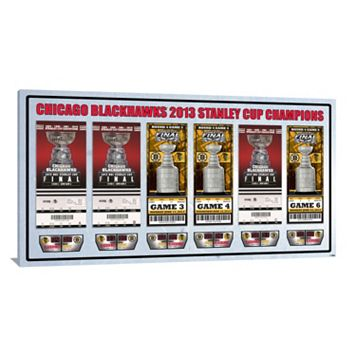 Chicago Blackhawks 2013 Stanley Cup Finals Tickets To History Canvas Print