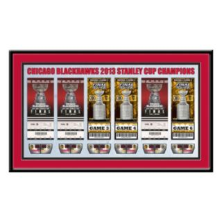 Chicago Blackhawks 2013 Stanley Cup Finals Tickets To History Framed Print