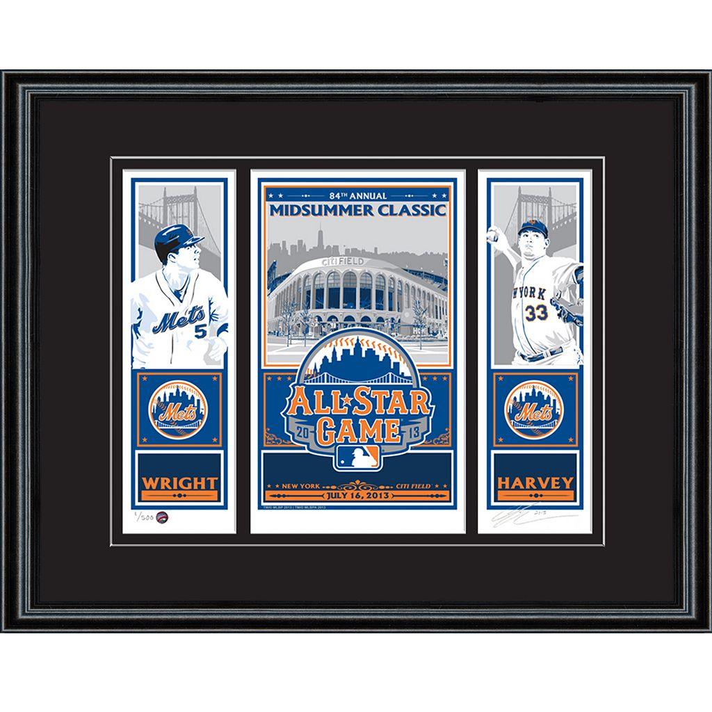 New York Mets 2013 MLB All-Star Game David Wright and Matt Harvey Sports Propaganda Screen Print