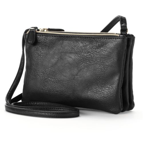 Apt. 9® Triple Zipper Crossbody Bag