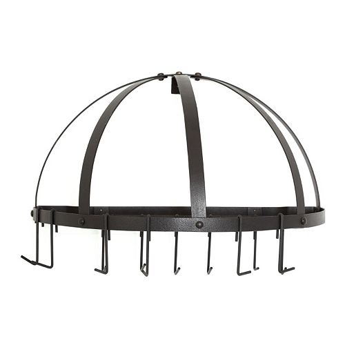 Old Dutch Graphite Half-Round Pot Rack