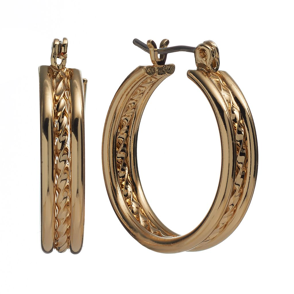 Twist Triple-Hoop Earrings