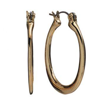 Gold Tone U-Hoop Earrings