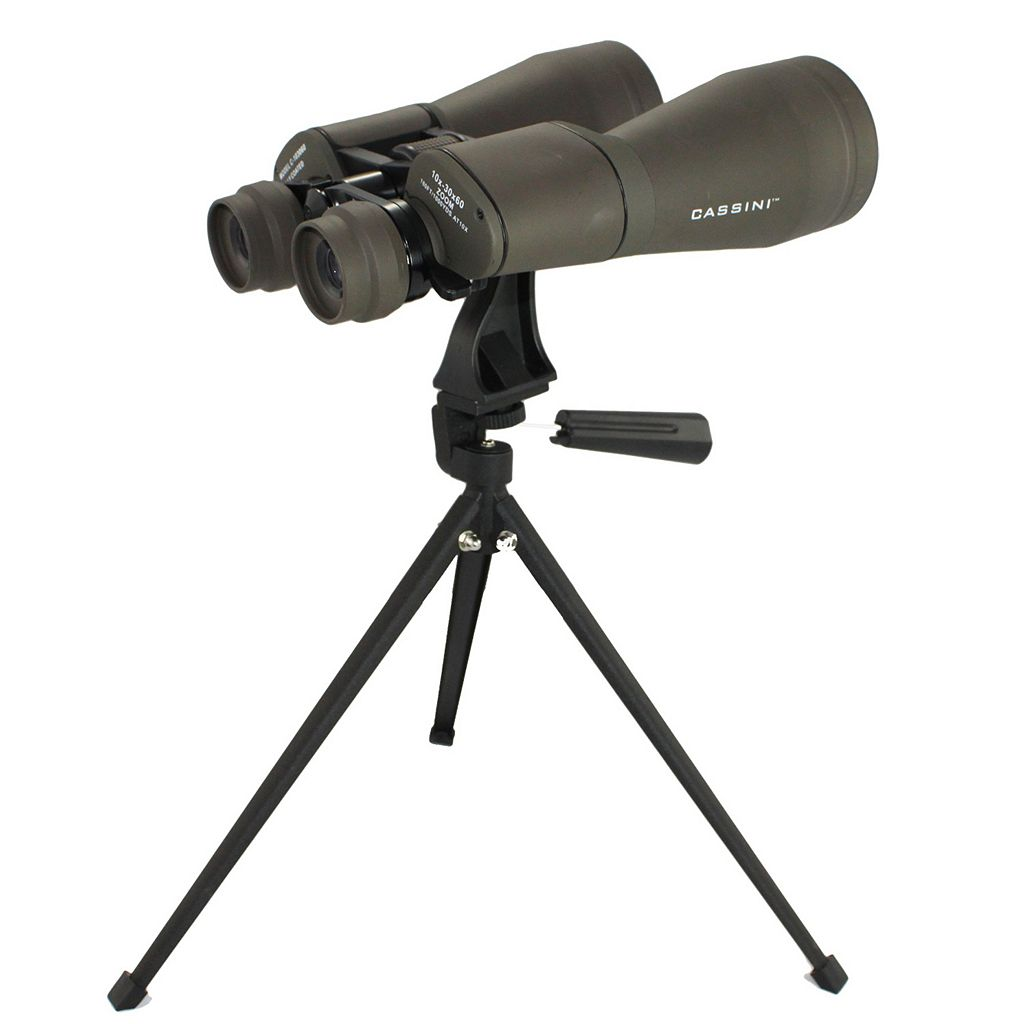 Cassini 10-30 x 60mm Zoom Binoculars with Case and Tripod