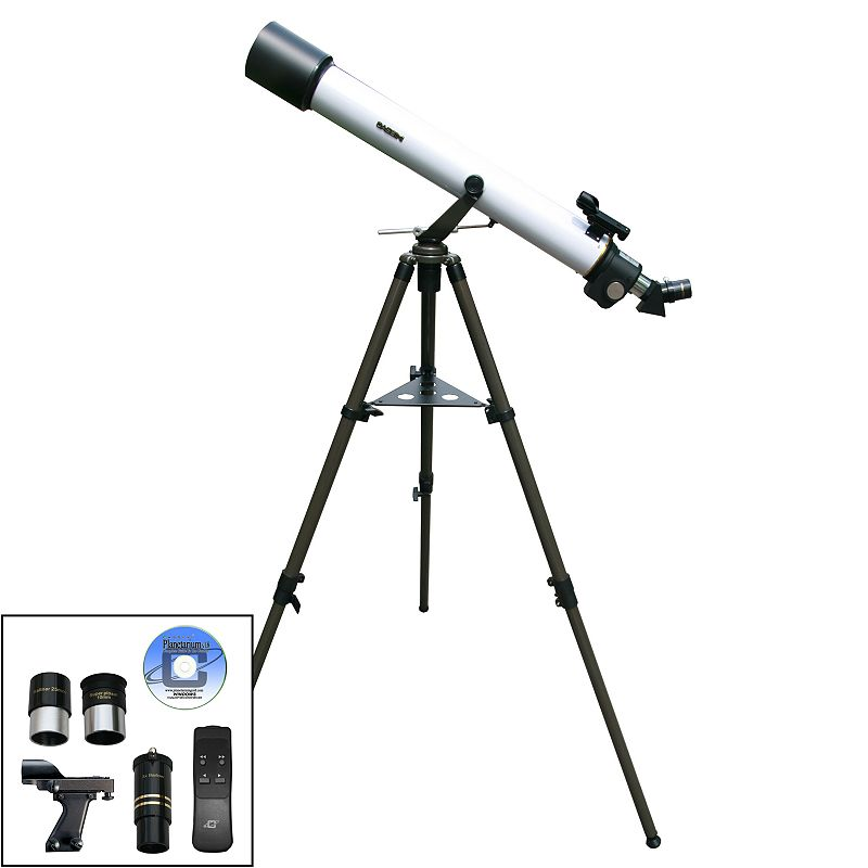 how to use controls on a refractor telescope